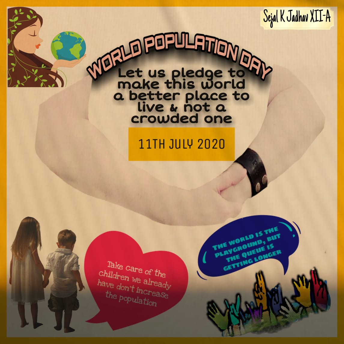 Poster Making and Slogan Competition on World Population Day, SBPCSC