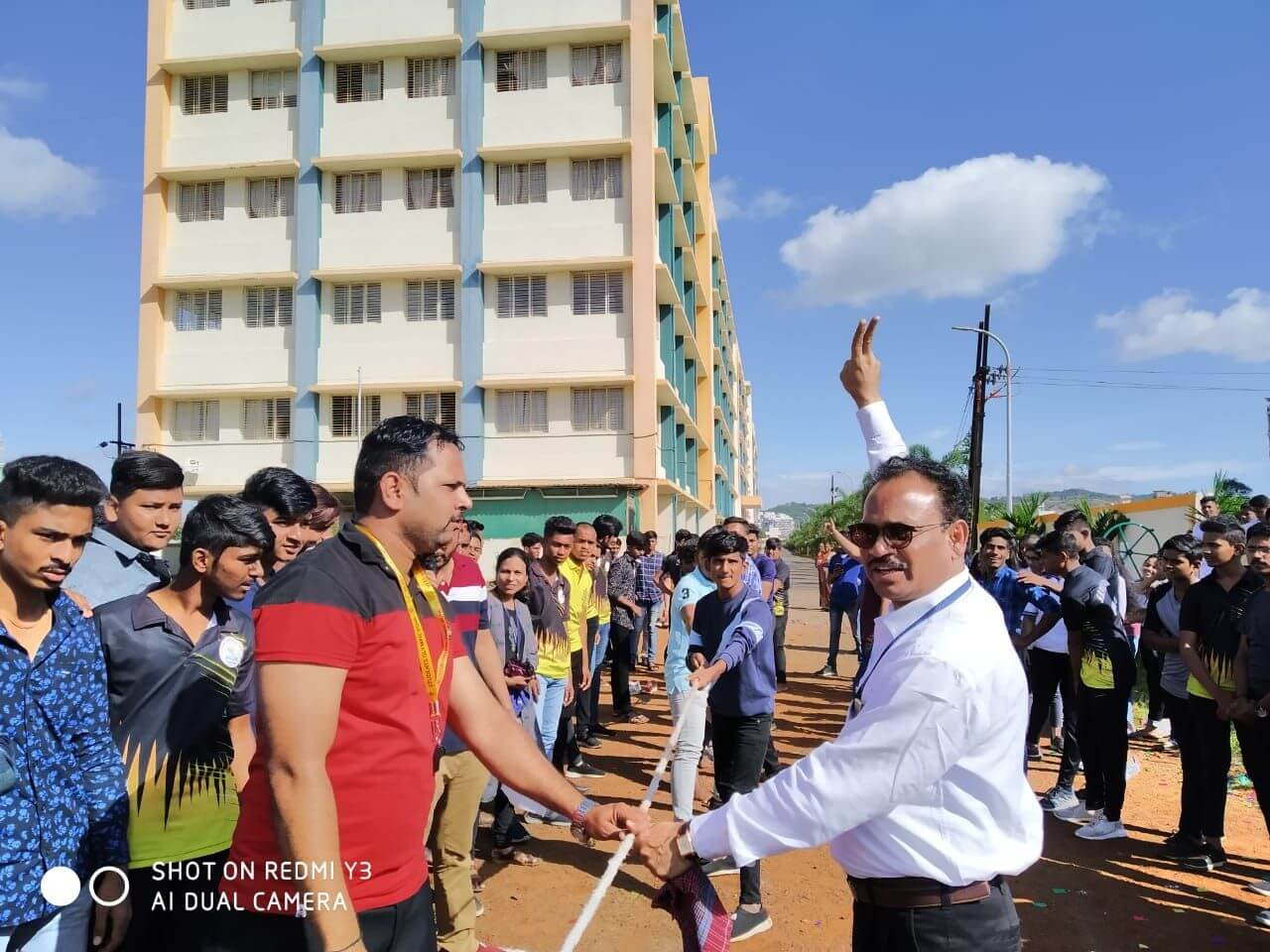 Sports event Inauguration by Principal Mr.S N Patil ,Sports Teacher Mr.Pradeep Kasar