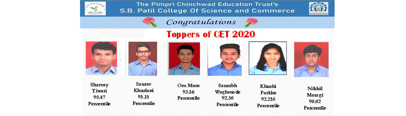 Toppers of CET 2020, SBPCSC